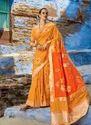 Foil Printed Banarasi Silk Festival Wear Designer Saree