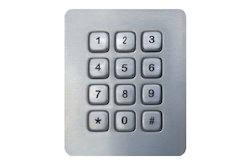 LINEPRO CONTROLS PVT LTD 12 Keys SS Metal Key Board 4x3 Matrix, Lp2319, Size: 72 X 88 Mm