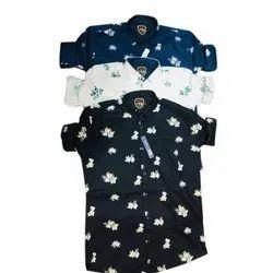 Mens Fashion Printed Cotton Shirt, Size: M-xxl