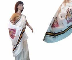 Multicolor Traditional RadhaKrishna Embroidery Work Balaramapuram Saree