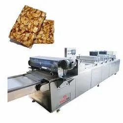 Groundnut Chikki Sheeting and Cutting Machine