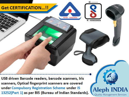 BIS Registration for USB Driven Barcode Readers, Barcode