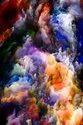 Naag Printed Canvas Cloudy Colouring Art
