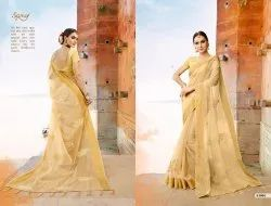 Fancy Party Wear  Organza Silk Saree