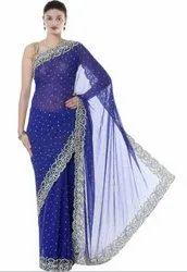 Royal Blue Hand Work Saree