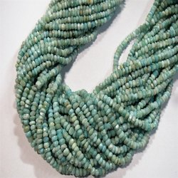 100% Natural Larimar Faceted Rondelle Beads