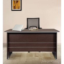 Design Today Brown Wooden Office Reception Table