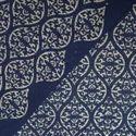 Indigo Blue Fast Color Discharge Hand Block Print Fabric
