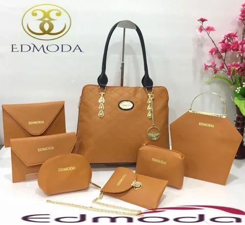 6dc078ea11 Ladies Bags - Edmoda Brown Ladies Bags Combo Pack Wholesale Sellers ...