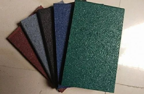 Multicolor Rubber Tiles, For Gym Flooring,Sports Flooring, Size: custom