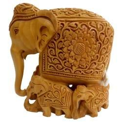 Wooden Carving Baby Elephant
