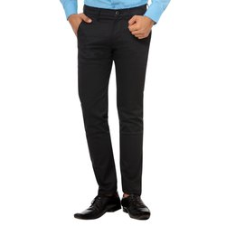 Men''S Cotton Solid Casual Trousers