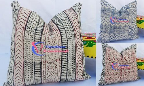 Printed Rug Carpet Durrie Cushion Cover