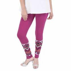 Cotton Bottom Designer Legging, Size: Free Size, Small, Medium, Large