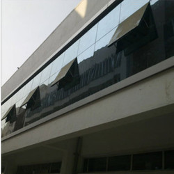Reflective & Toughened Curtain Wall Glazing, For Exterior Facade