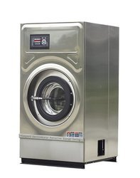 Silver Automatic Washer Dryer Machine