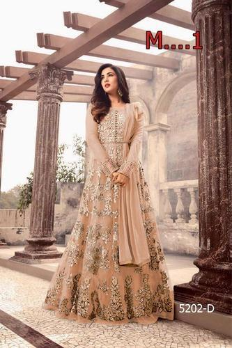 f1f4ccd73 Ladies Net Embroidered Semi-Stitched Party Wear Anarkali Suit