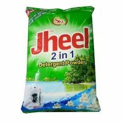 Dal Jheel 2 In 1 Detergent Powder, Packaging Size: 1 Kg