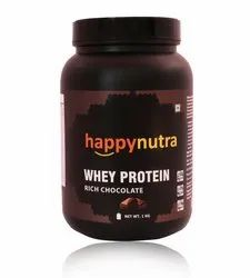 Whey Protein Powder 1kg with Digestive Enzymes(Chocolate), Packaging Type: Bottle