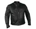 Round Biker Leo Torresi Stylish Genuine Leather Motorcycle Jacket For Men, Size: Large