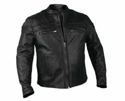 Leo Torresi Stylish Genuine Leather Motorcycle Jacket for Men