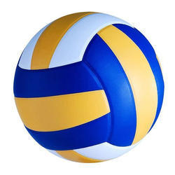 Blue, Yellow And White PU Volleyball, Size: 5mm