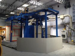 Monorail Conveyor Spinner Hanger Shot Blasting Machine