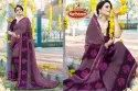 Printed Embroidered & Diamond Work Marble Saree - KitKat