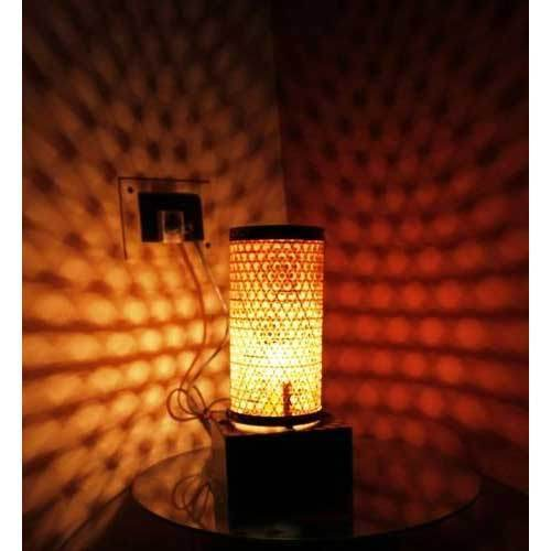 Handmade checker bamboo table lamp bamboo lamp sanjhbati handmade checker bamboo table lamp aloadofball Images