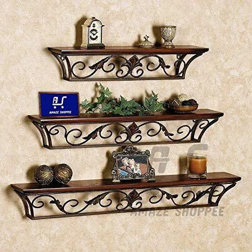 Amaze Shoppeefloating Shelfcreative Wrought Iron Wall Mounted