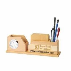 Wooden Pen Stand Table Gift, For Gifting