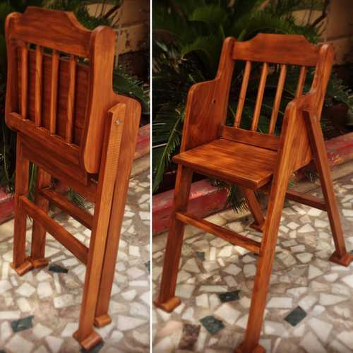 Teak Wood Furniture Baby Feeding Chair