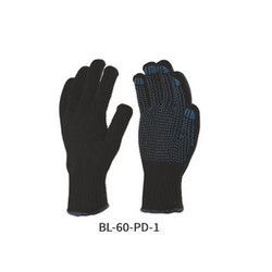 Knitted Seamless Gloves with PVC Dots