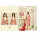 Red-Beige Anarkali Ladies Suit