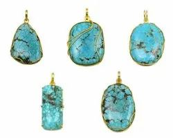 Natural Turquoise Gemstone Pendant