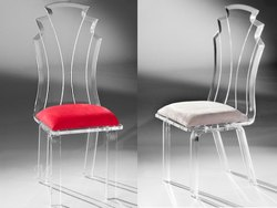 DD DESIGNS Transparent Acrylic Dining Chair