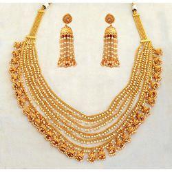 Gold Finish Necklace Set