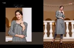 kessi Fabric Vibrant Readymade kurti catalogue