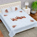 Designer Traditional Double Bed Sheet With Pillow Cover