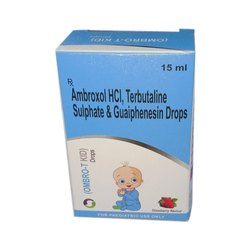 Ambroxol HCL, Terbutaline Sulphate And Guaiphenesin Drop, Packaging Size: 15 Ml