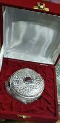 Round Silver Dabbi, Size: 3.5