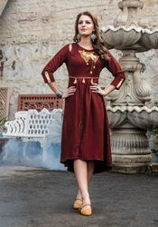 PR Fashion New Maroon Designer Kurti
