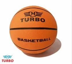 Turbo Synthetic Rubber Basketball, Size: 5