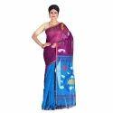 Silk Handloom Jamdani Sarees, Length: 6.3 M