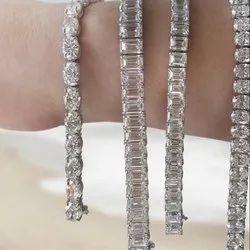 Single Line Moissanite Bracelet