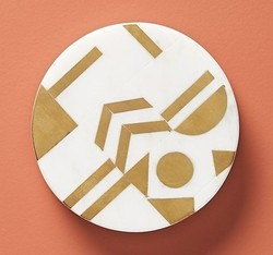 Marble Brass Inlay Coasters