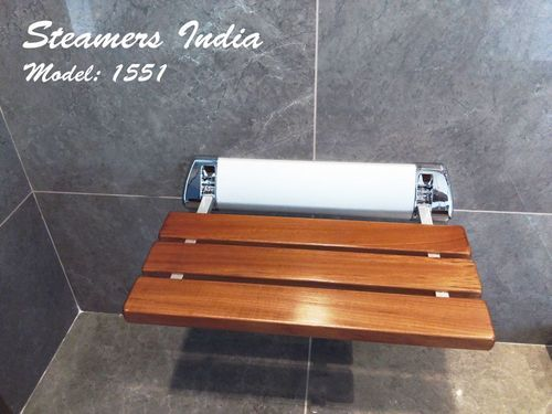 Steamers India Teak Wooden Folding Shower Seat Dimension Size 20