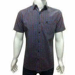 Mens Cotton Half Sleeve Shirt, Size: S-XXL