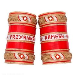Wedding Chura With Name Bangles