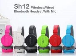 Blantech Multicolor Wireless Headphones Stretchable Sh-12 Fordable With Bluetooth, 150gram